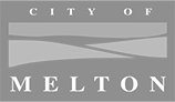 Logo city of melton grey