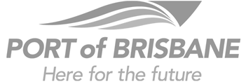 Logo port of brisbane grey