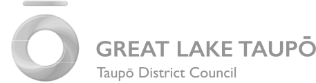 Logo taupo district council grey